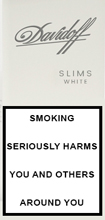 Davidoff White Slims Cigarettes pack