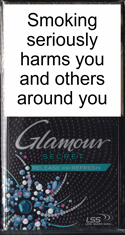 Glamour Secret Release and Refresh (Green) Cigarettes pack