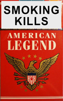 American Legend Red Cigarettes pack