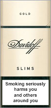 Davidoff Slim Lights (Gold) 100`s Cigarettes pack